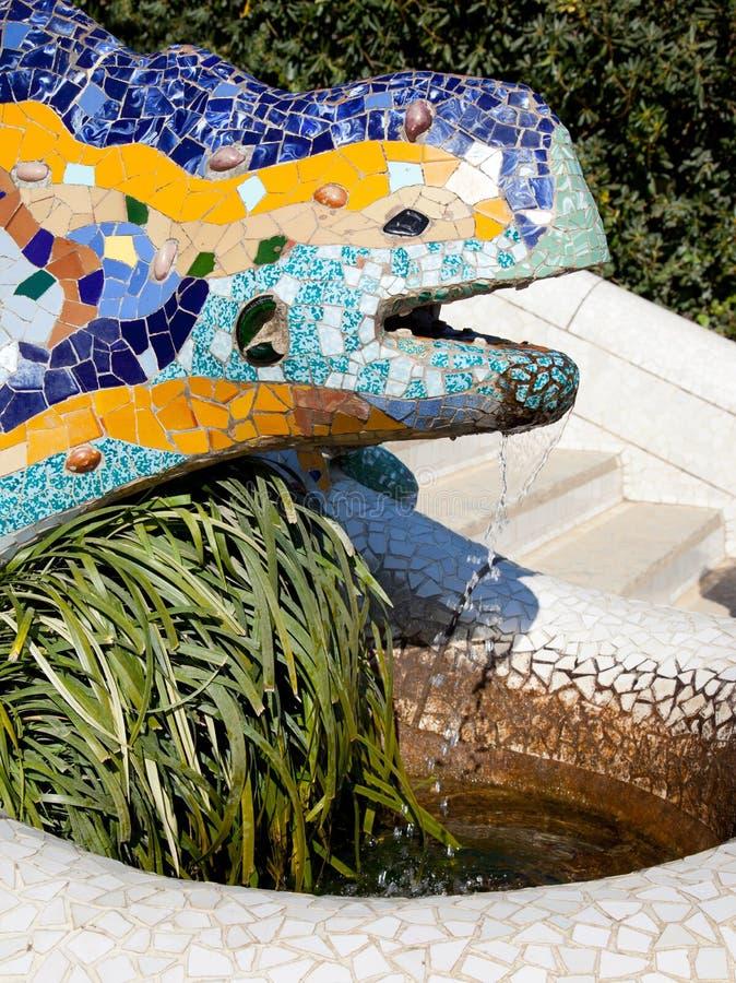 Download Dragon Salamandra Of Gaudi  In Park Guell Stock Image - Image: 25048131