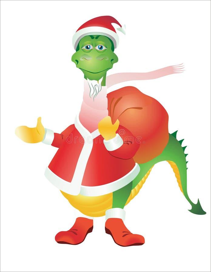 Dragon Santa Claus Stock Photos