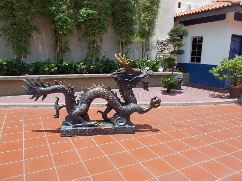 Dragon Sclupture stock afbeelding