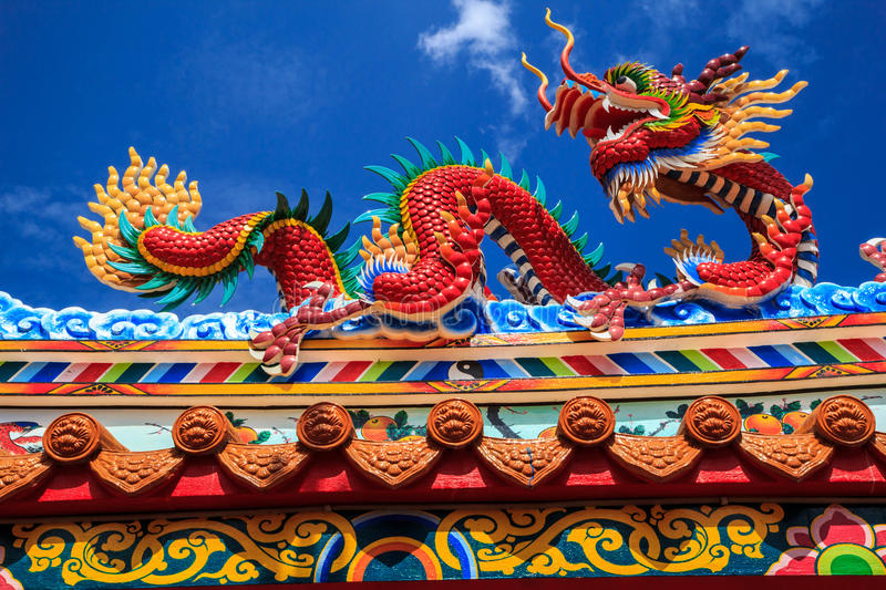 Dragon sculpture. Art architecture buddhist artwork spectacular temple in thailand royalty free stock photos
