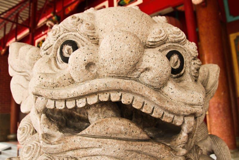 Dragon sculpture outside the Chinese Vihara Gunung Timur Temple. Dragon sculpture of the Chinese Vihara Gunung Timur Temple of the city of Medan, Sumatra stock image