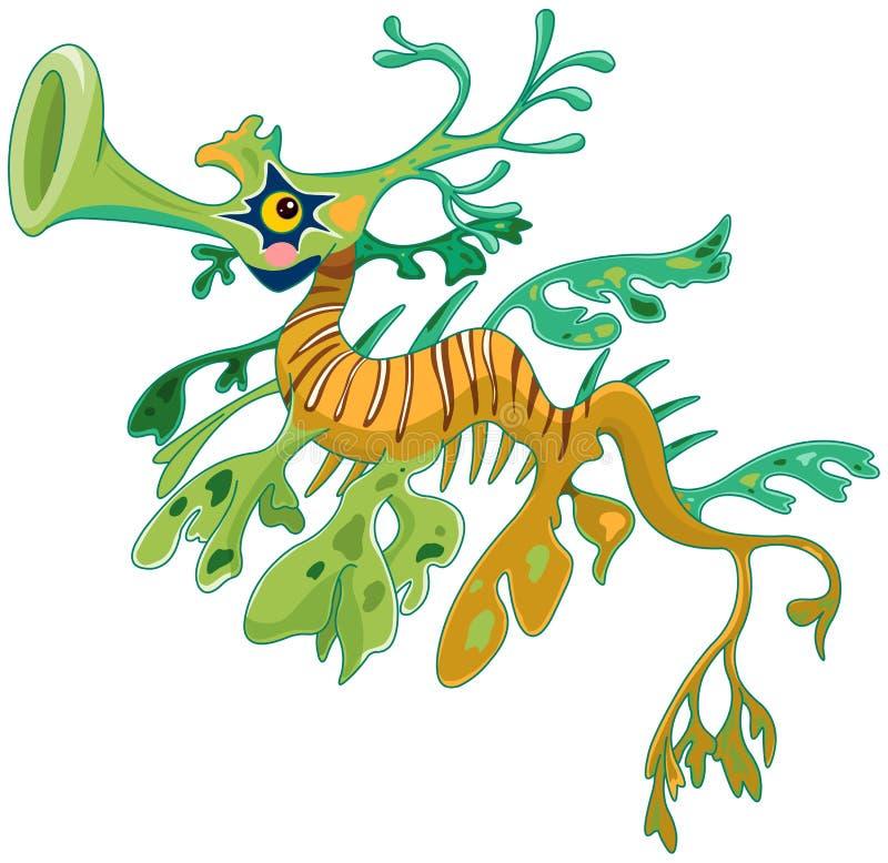 Dragon Seahorse ilustración del vector