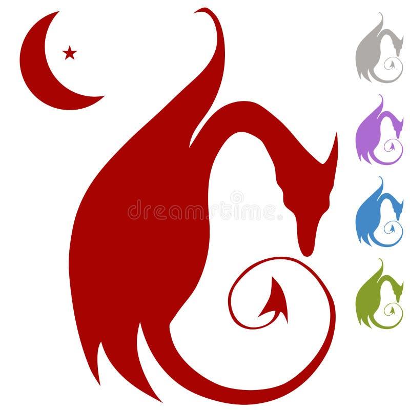 Dragon Silhouette Stock Image