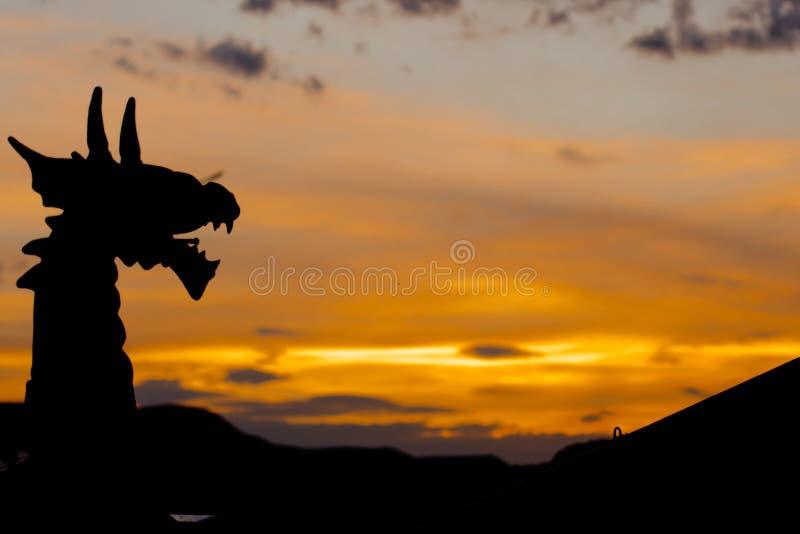 Dragon Silhouette photo stock
