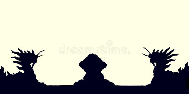 Dragon Silhouette fotografia de stock
