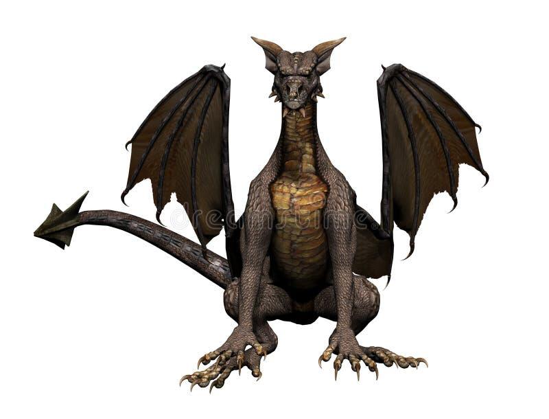 Dragon Sitting royalty free illustration