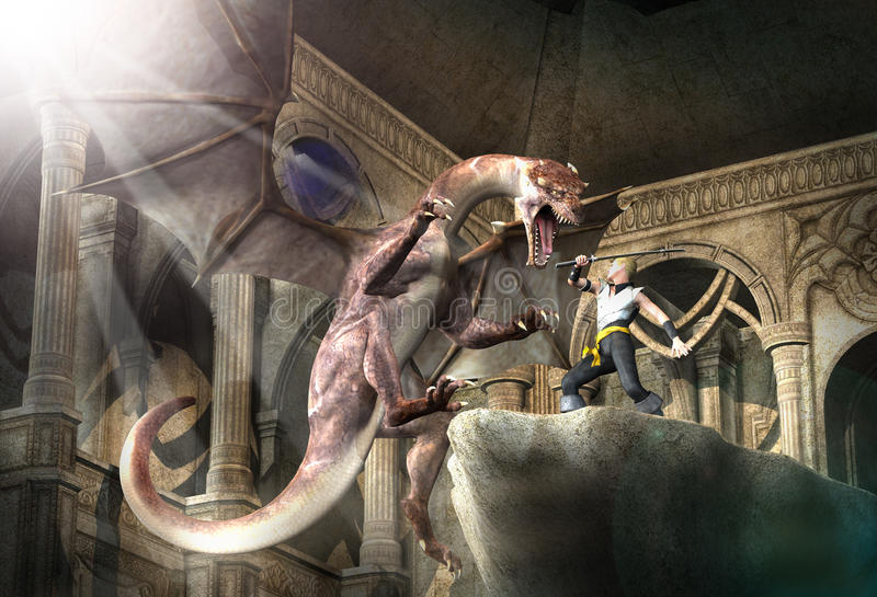 Dragon Slayer royalty illustrazione gratis