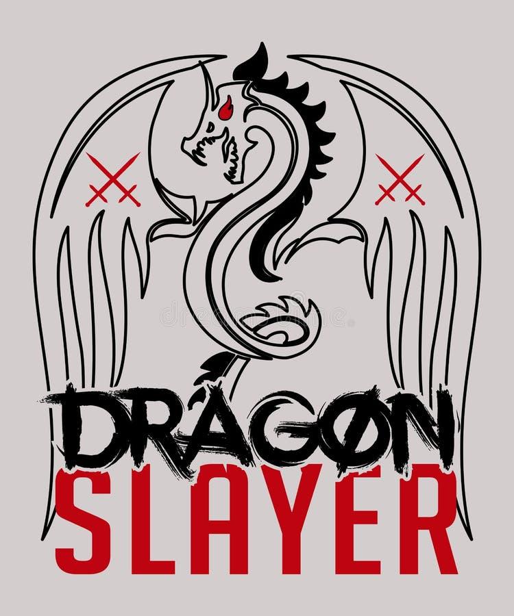 Dragon Slayer Graphic Element stock abbildung