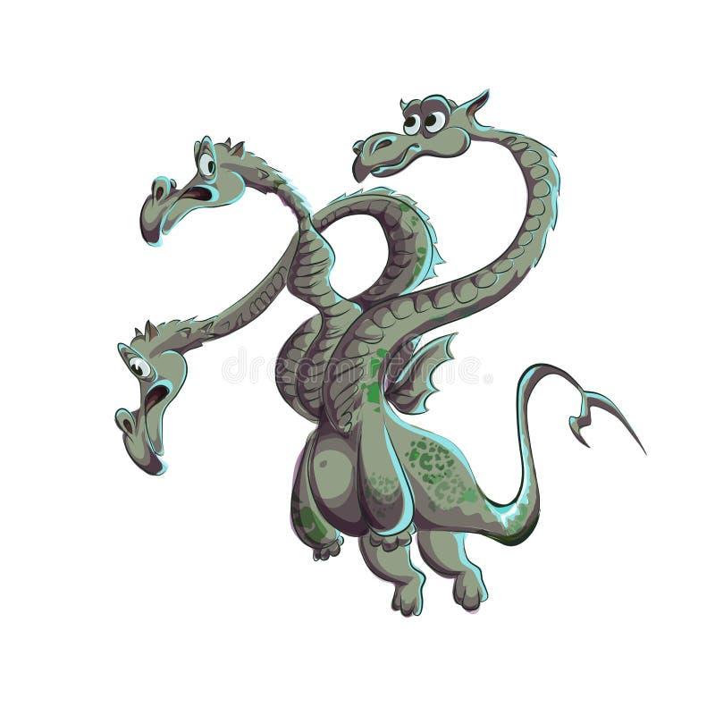 Dragon, snake royalty free illustration
