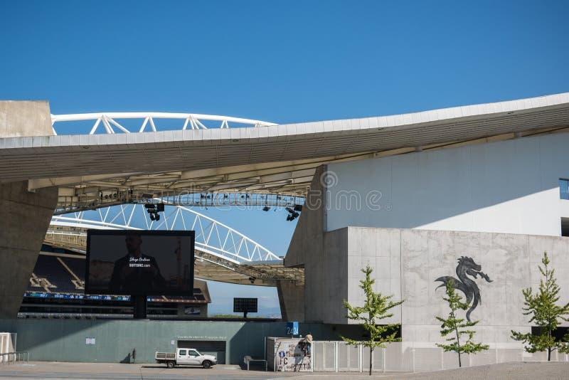 Dragon Stadium/Estadio faz Dragao, o Porto FC moído em Porto, Portugal fotografia de stock