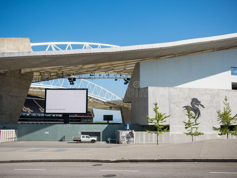 Dragon Stadium/Estadio faz Dragao, o Porto FC moído em Porto, Portugal imagem de stock royalty free