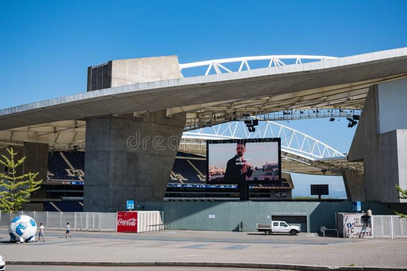 Dragon Stadium/Estadio faz Dragao, terra de futebol de Porto FC em Porto, Portugal imagens de stock royalty free