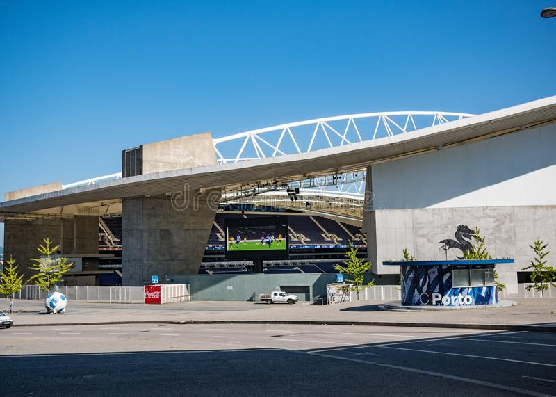 Dragon Stadium/Estadio faz Dragao, terra de futebol de Porto FC em Porto, Portugal foto de stock royalty free