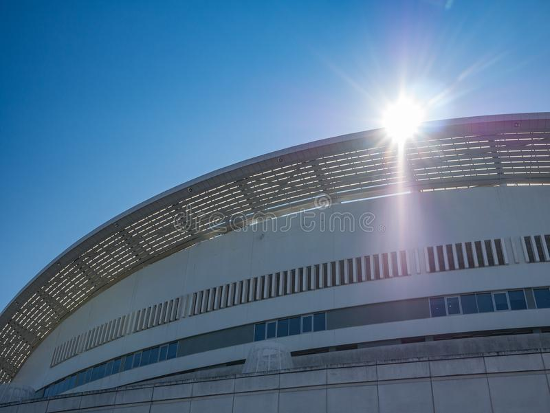 Dragon Stadium/Estadio faz Dragao, terra de futebol de Porto FC em Porto, Portugal foto de stock