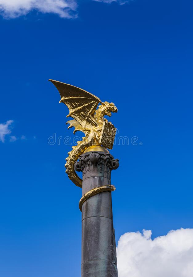 Free Dragon Statue In Hertogenbosch - Netherlands Royalty Free Stock Image - 200024476