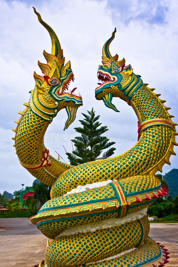 Free Dragon Statue In Thailand Royalty Free Stock Photo - 15342745