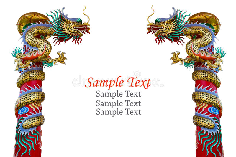 Dragon statue isolated. vector illustration