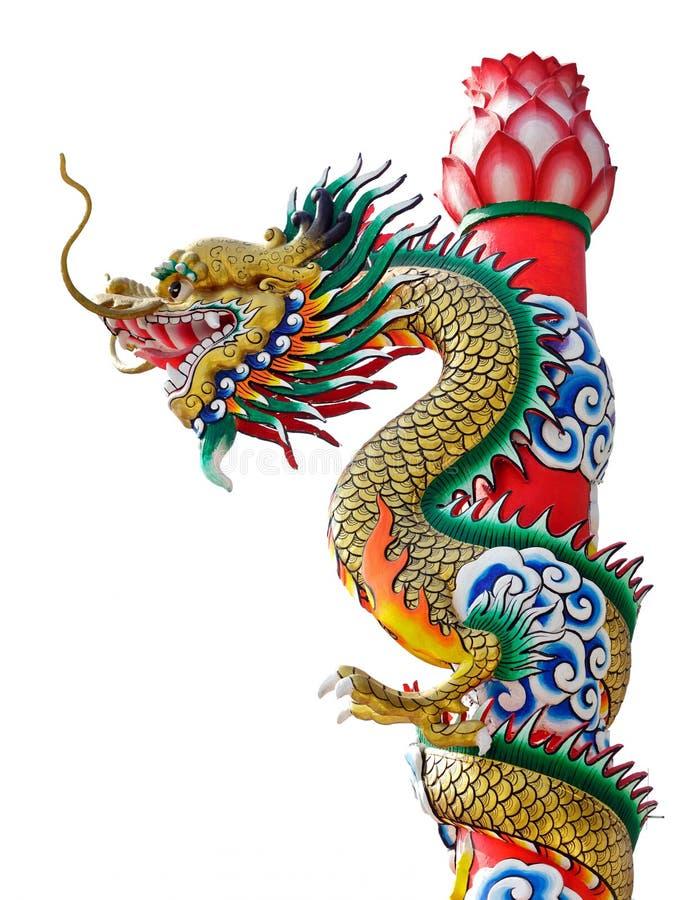 Dragon statue isolated vector illustration