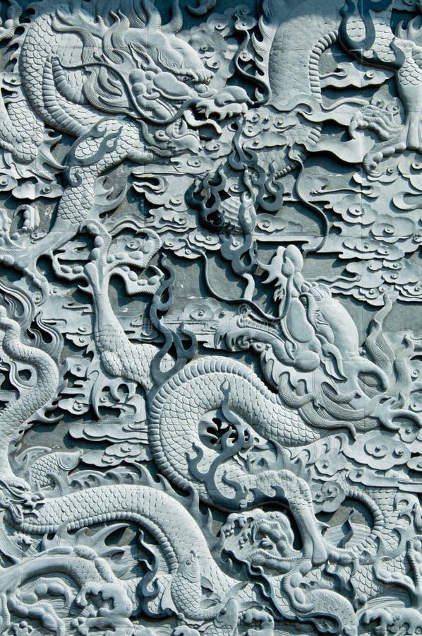 Dragon Stone Carving royalty free stock photo