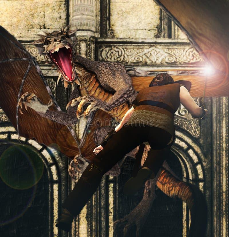 Dragon Strike illustrazione vettoriale