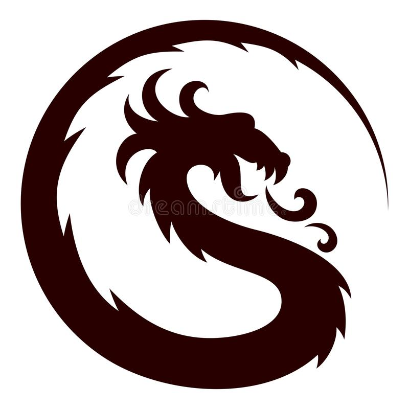 Dragon Symbol stock illustratie