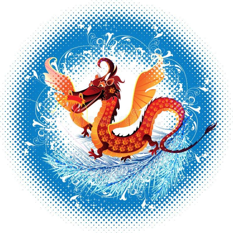 Dragon_ symbol_ 2012 lizenzfreie abbildung