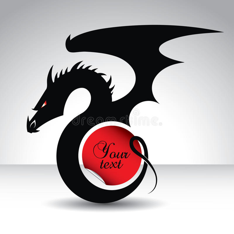 Dragon Symbol For 2012 Year With Text Place Stock Vector