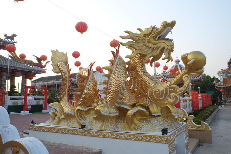 Dragon gold. Dragon symbolizes greatness and abundance stock photo