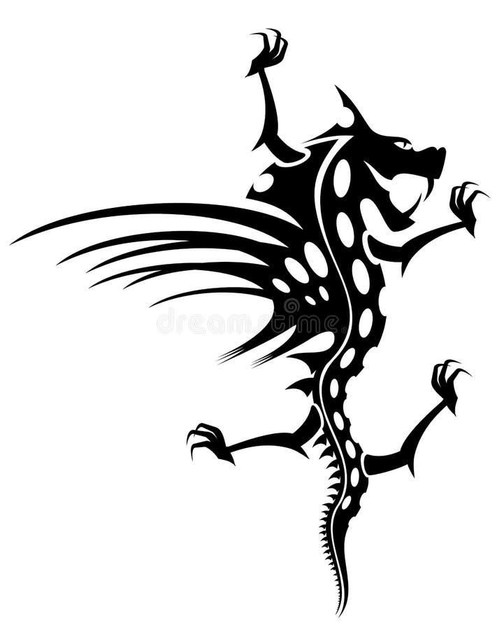 Download Dragon tattoo stock vector. Illustration of ornament - 10222307