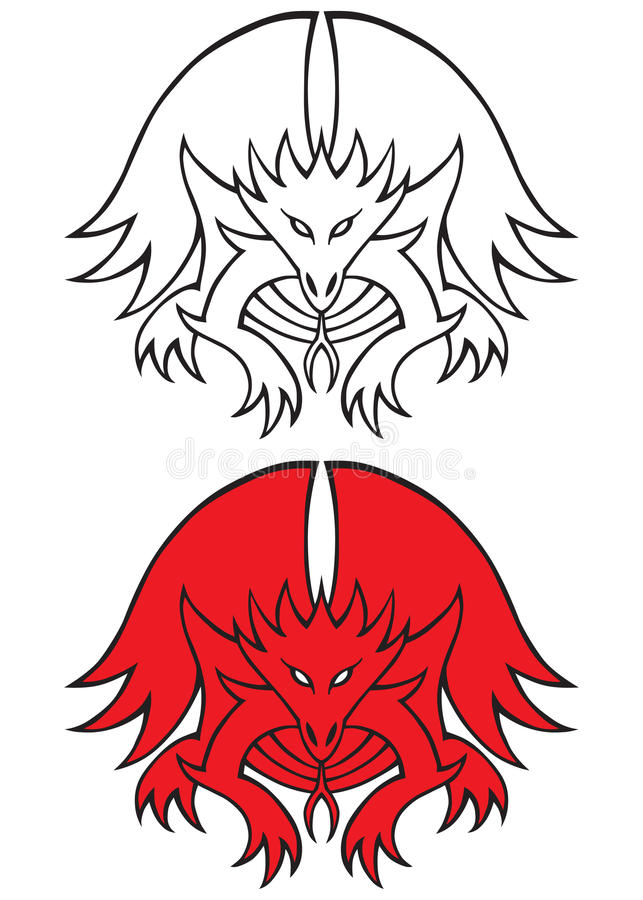 Download Dragon tattoo stock vector. Image of stylized, mythical - 17374684