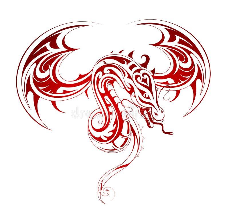 Dragon tattoo royalty free illustration