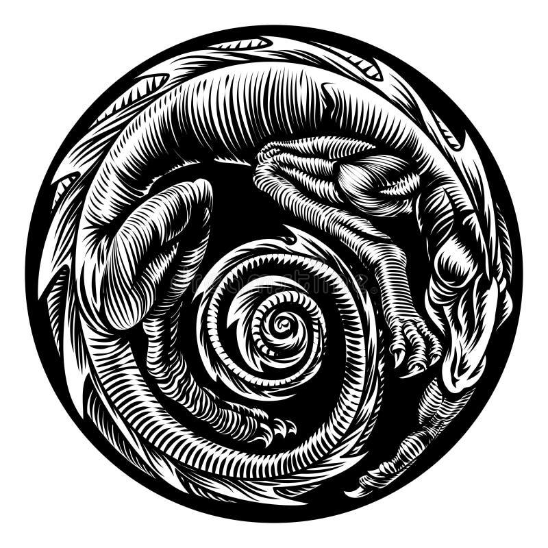 Dragon Tattoo Design ilustração royalty free