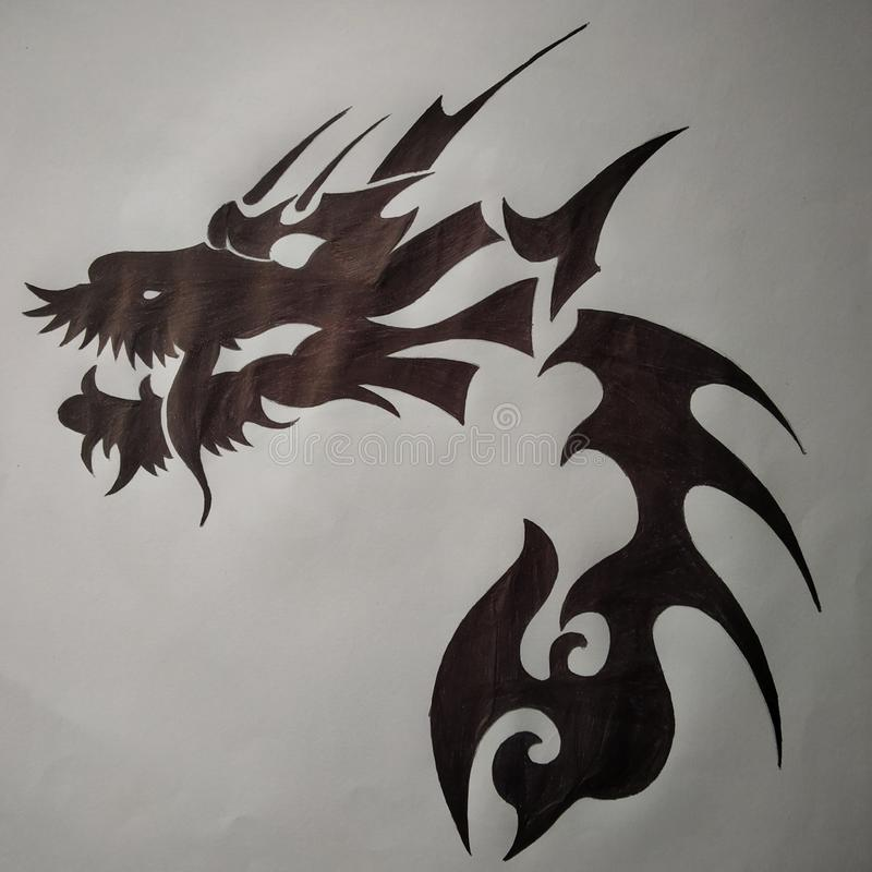 Dragon tattoo designs. Dragon logo for sale tattoo designs stock images
