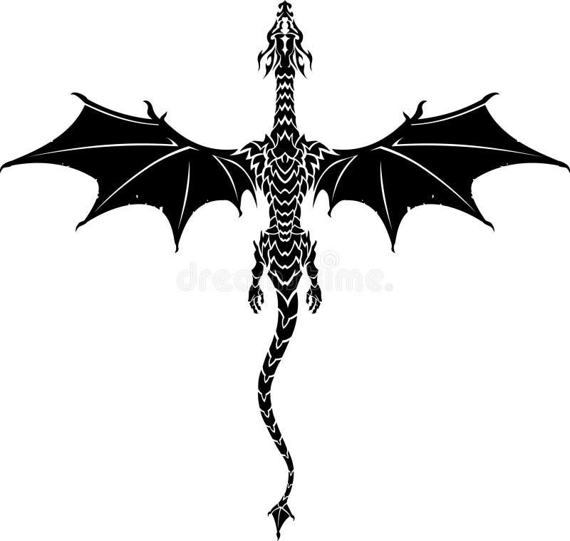Dragon Tattoo mítico ilustração do vetor