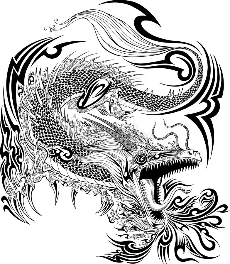 Dragon Tattoo Vector vector illustratie