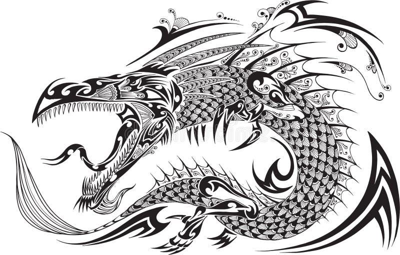 Dragon Tattoo Vector ilustración del vector