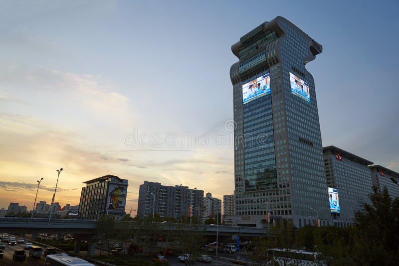 Dragon Tower, Beijing Landmark Editorial Stock Image ...
