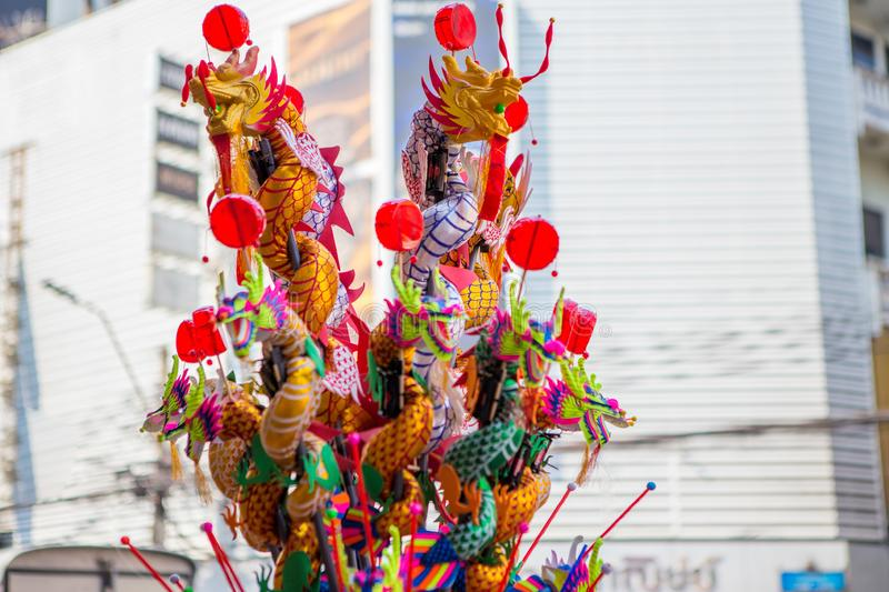Dragon Toy at Chinatown in Chinese New Year. Colorful Dragon Toy at Chinatown in Chinese New Year royalty free stock photography