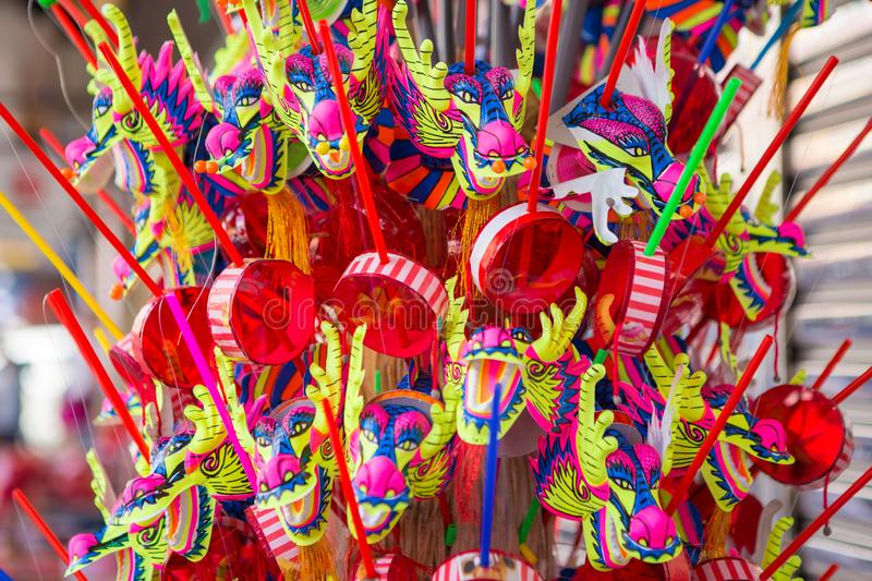 Dragon Toy at Chinatown in Chinese New Year. Colorful Dragon Toy at Chinatown in Chinese New Year stock photography