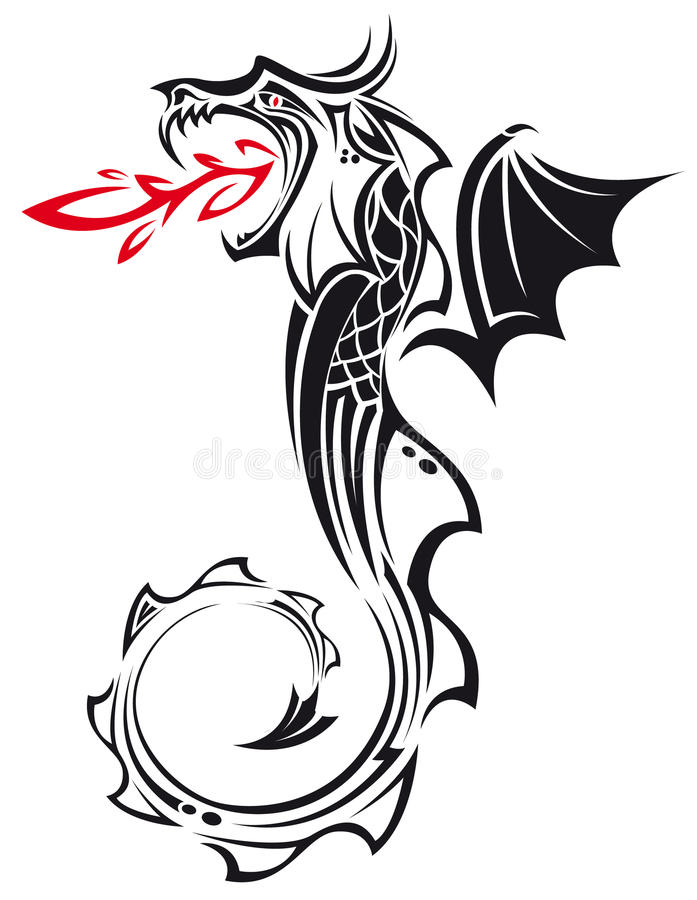Dragon tribal photo stock