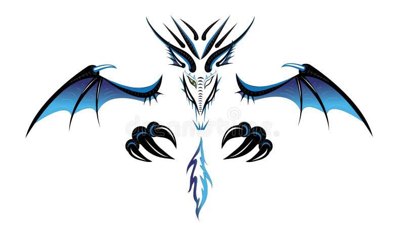 Dragon un démon. illustration stock