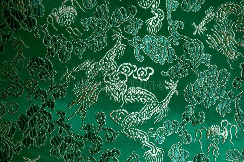 Download Dragon vert image stock. Image du kimono, tissu, matériau - 727717