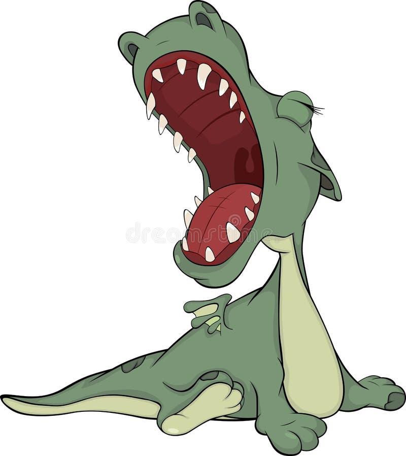 Dragon vert aimable illustration stock