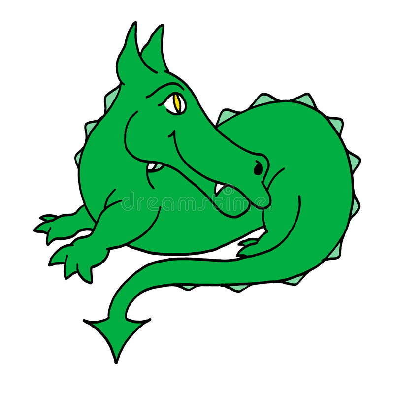 Dragon vert heureux photographie stock libre de droits
