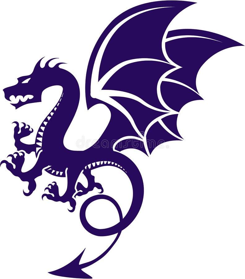 Dragon Vetora escuro ilustração do vetor