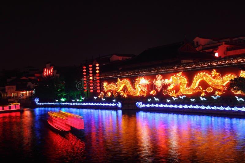 Dragon wall in fuzi temple