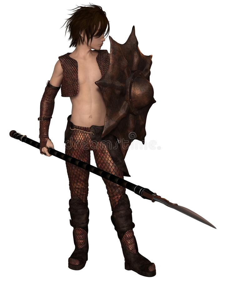 Dragon Warrior Boy stock illustrationer