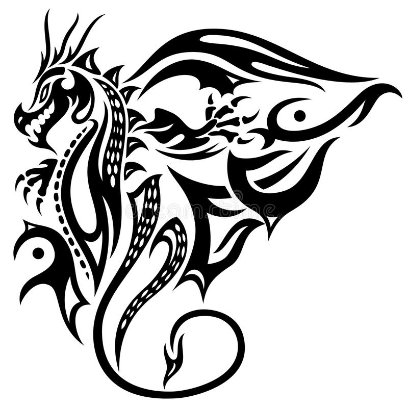Dragon, wings royalty free illustration