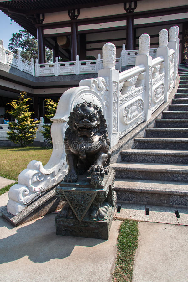 Download Dragon In Zulai Budhist Temple Sao Paulo Brazil Royalty Free Stock Images - Image: 26630799