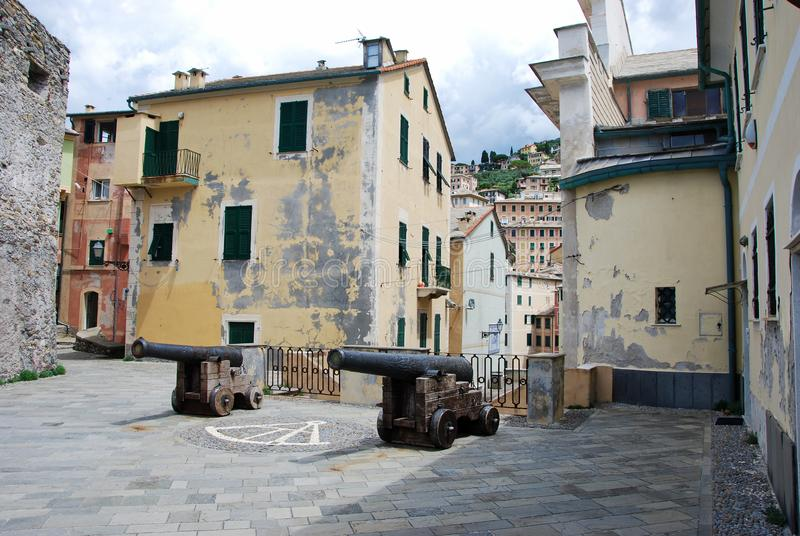 Dragonara-Schloss bei Camogli stockbild